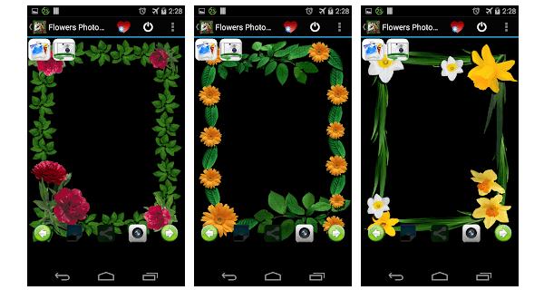 flower photo frames evsoft