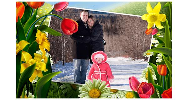 flower photo frames style app