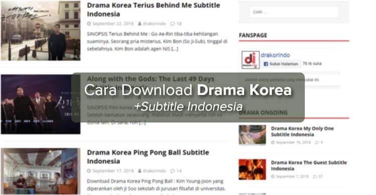 Cara Download Drama Korea dengan Subtitle Indonesia di Drakorindo