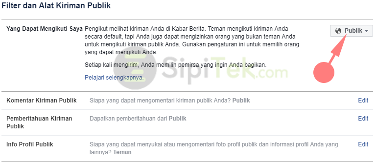 pengikut publik facebok