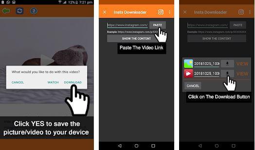 Video Downloader for Instagram Linterna Apps
