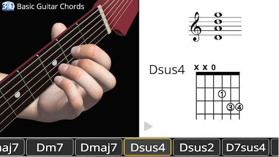 guitar 3d basic chrods