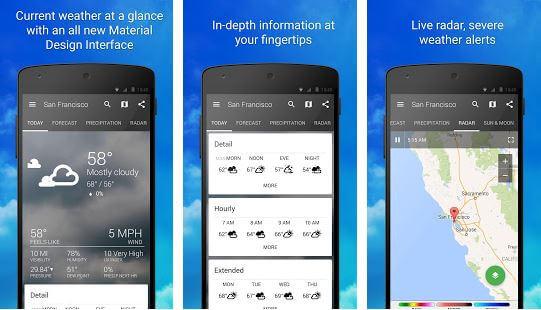 aplikasi cuaca android 1weather