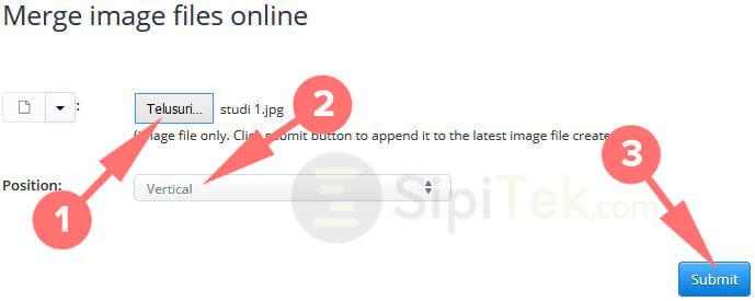 menggabungkan file jpg di aconvert