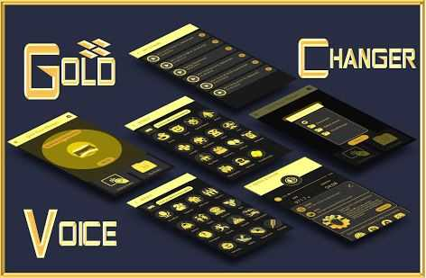 Gold Voice Changer & Voice Recorder