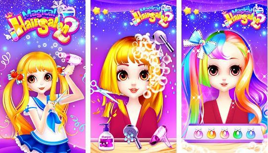 Magical Hair Salon 2 Girl Makeover Dress Up