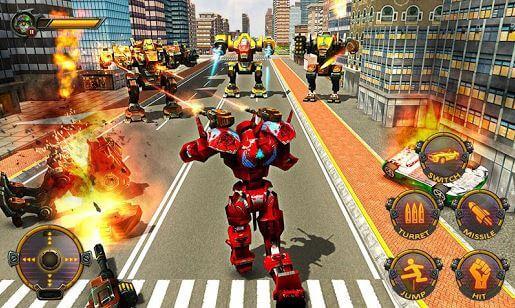 Robot Car War Transform Fight