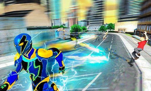 Electric Superhero Energy Jolts City Rescue 3D