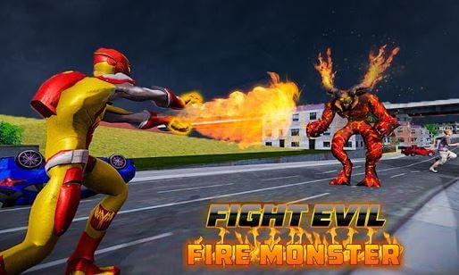 Flame Hero Flyinh Superhero City Rescue Mission