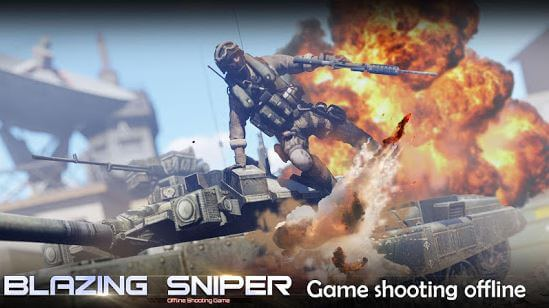 Blazing Sniper Offline Shooting Game