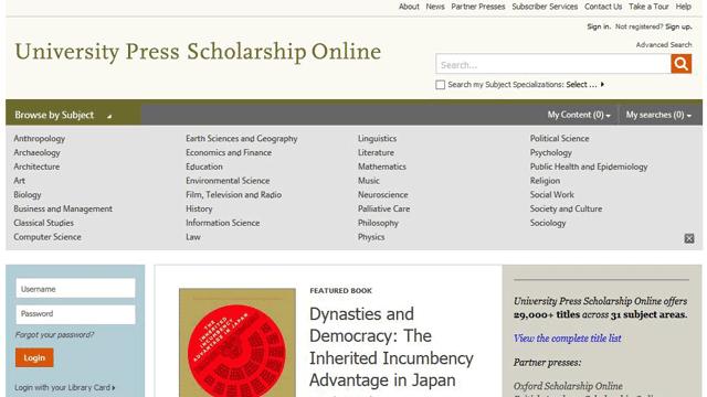 University Press Scholarship Online