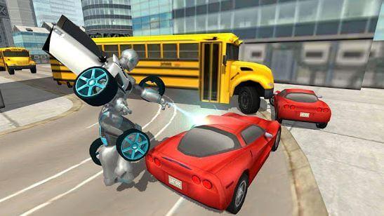 Flying Car Robot Flight Drive Simulator Game