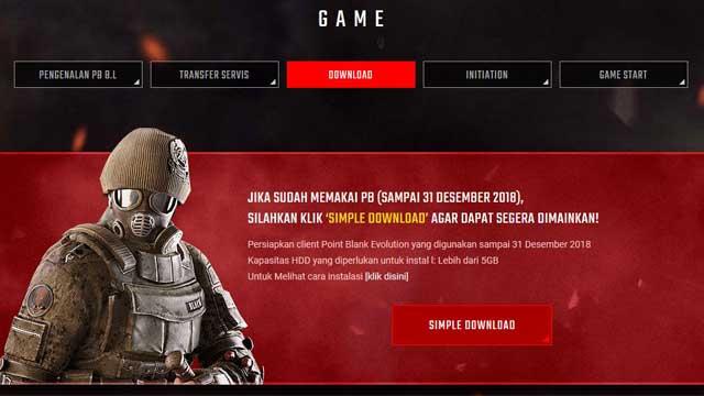 situs resmi pengembang game point blank