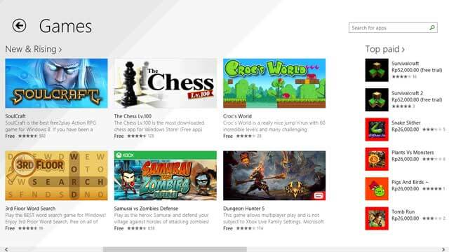 cara download game di laptop windows store