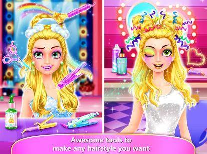 Rainbow Hair Salon - Dress Up