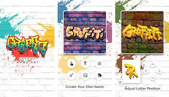 Graffiti Effect Name Art