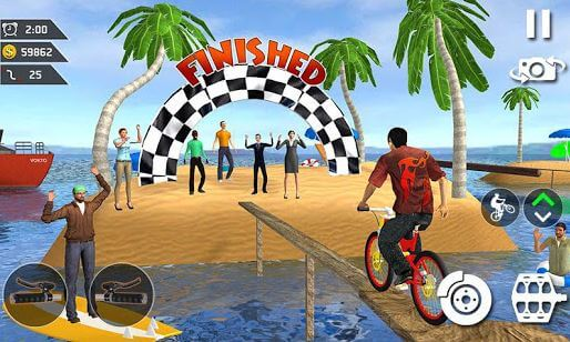 Water Park Bicycle Surfing