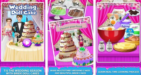 Wedding Doll Cake Maker! Cooking Bridal Cakes