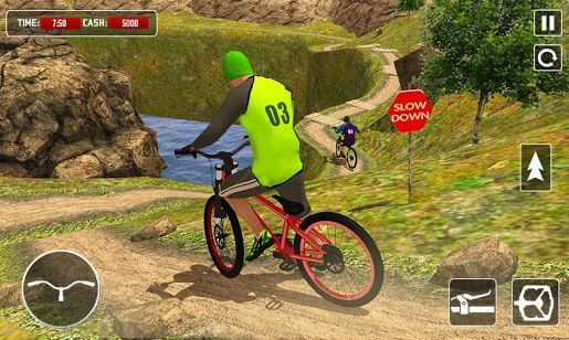 BMX Offroad Bicycle Rider Super Hero Stunts Racing
