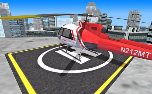 City Helicopter Fly Simulation