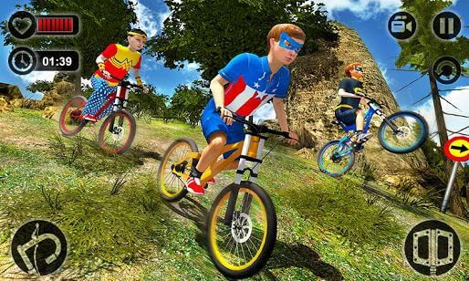 Downhill Superhero Kids Bicycle Rider MTB Cycle