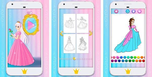 Princess Coloring Pages piu piu apps
