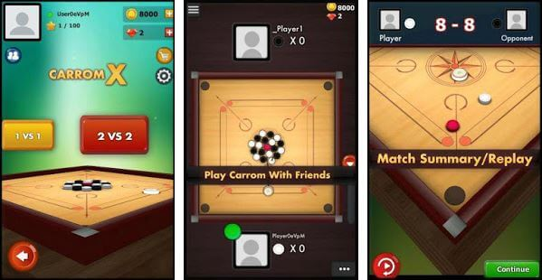 Carrom X 3D Online Multiplayer Carrom Game