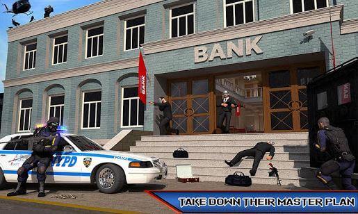 NY Police Battle Bank Robbery Ganster Crime