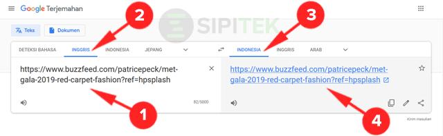 cara menerjemahkan halaman web dengan google terjemah