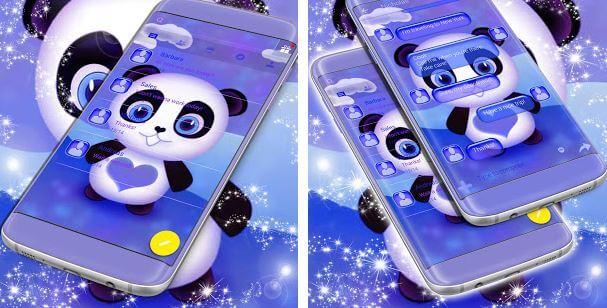 Cute Panda SMS Theme