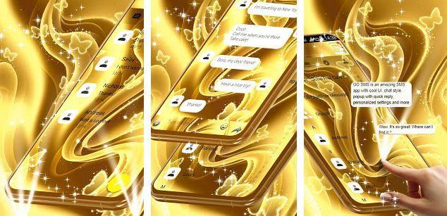 Golden SMS Theme