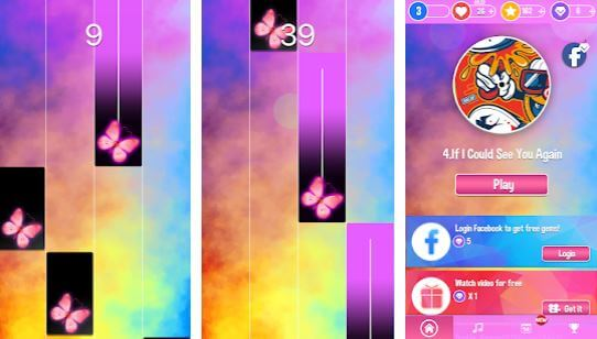 Pink Piano Music Tiles KPOP