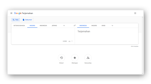 cara translate web