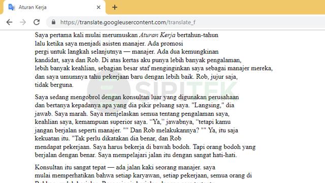 Cara Translate PDF menggunakan Google Translate
