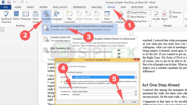 2 Cara Translate PDF menggunakan Microsoft Word