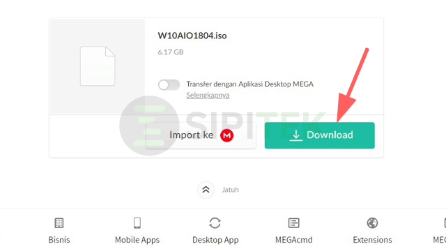 cara download di mega lewat pc tanpa aplikasi