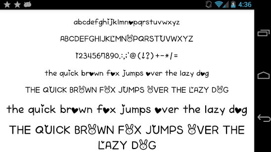 Font for FlipFont 50 Written