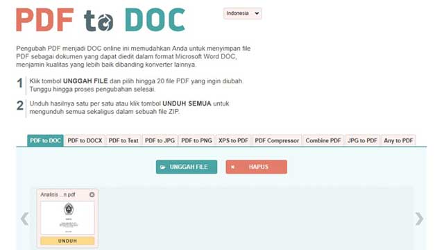 Cara Mengubah PDF ke Word Agar Bisa Diedit PDF to DOC