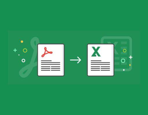 cara mengubah pdf ke excel