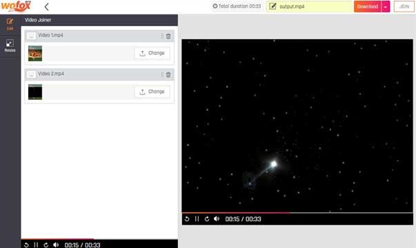 Cara Menggabungkan Video secara Online melalui WoFox