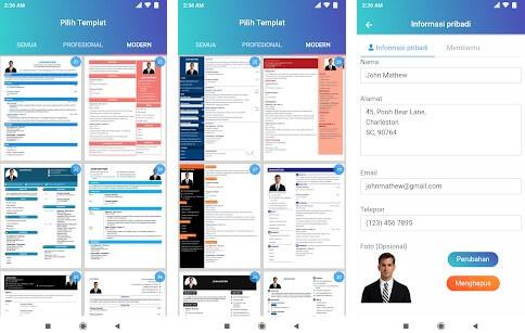 Resume Builder App Free CV Maker