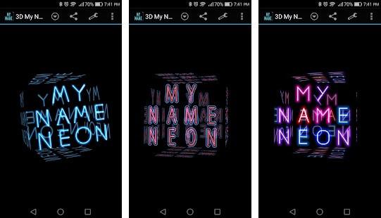 3D My Name Neon Live Wallpaper