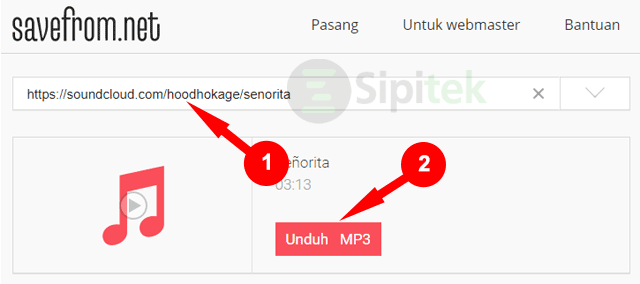 Download Lagu Soundcloud lewat Savefrom