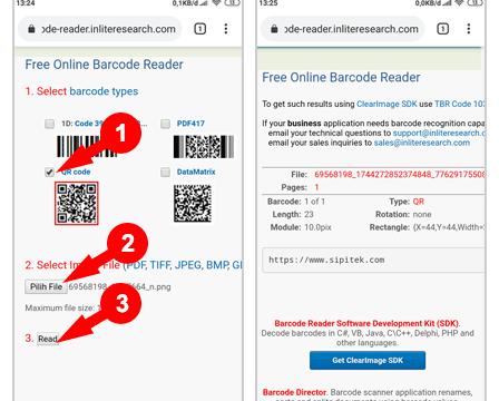 Scan Barcode melalui Situs Inlite